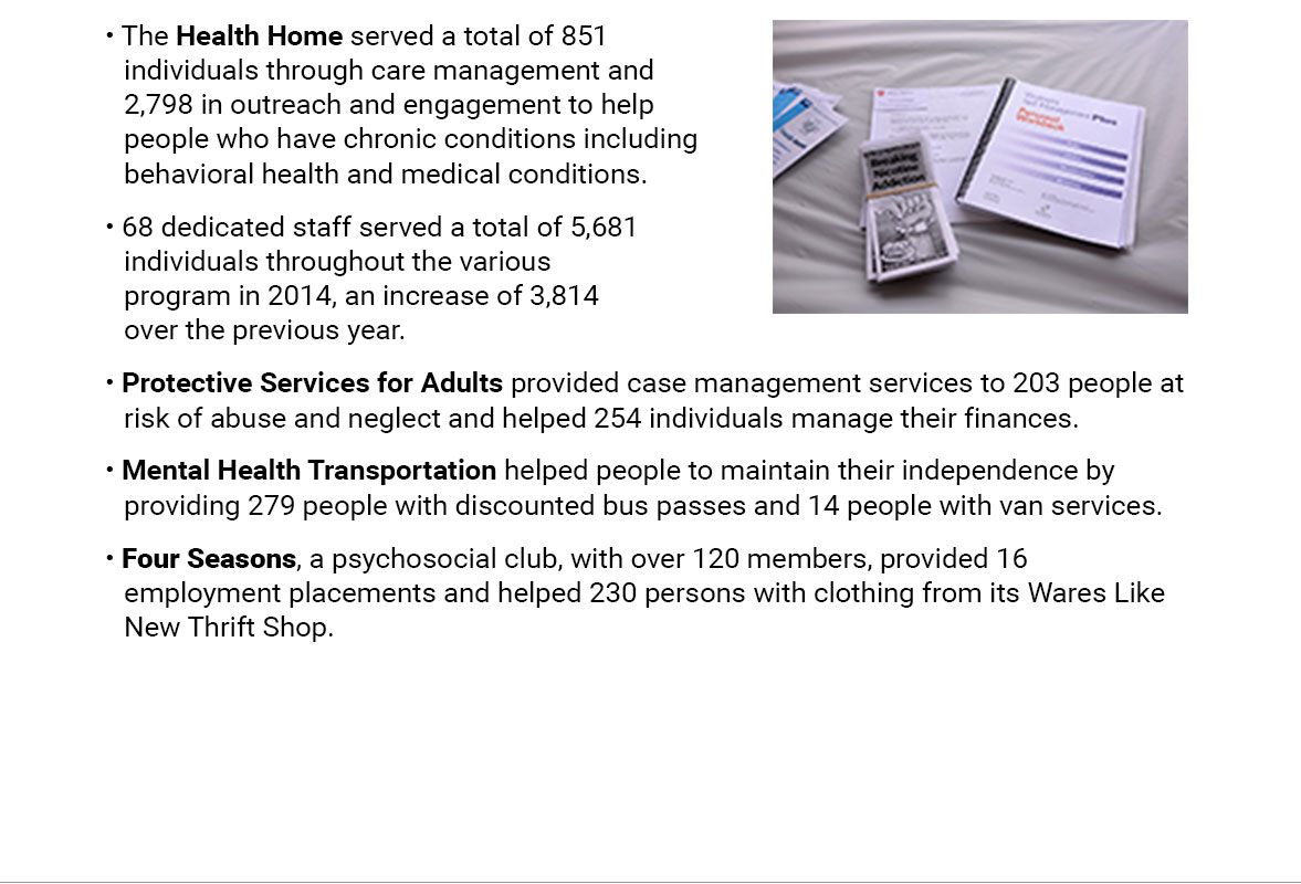highlights of mental health services