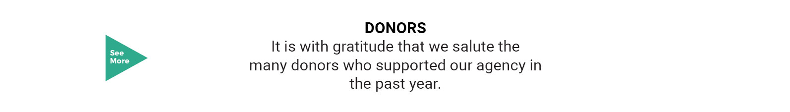 Our Donors