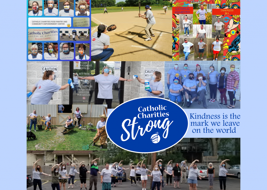 Catholic Charities Strong: poster collage of staff pictures